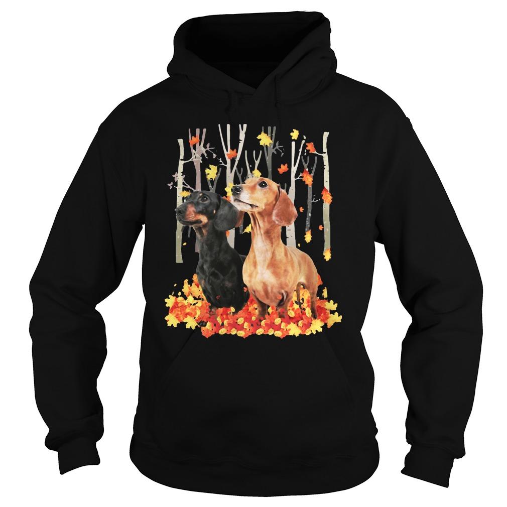 Dachshund Autumn Forest Shirt hoodie
