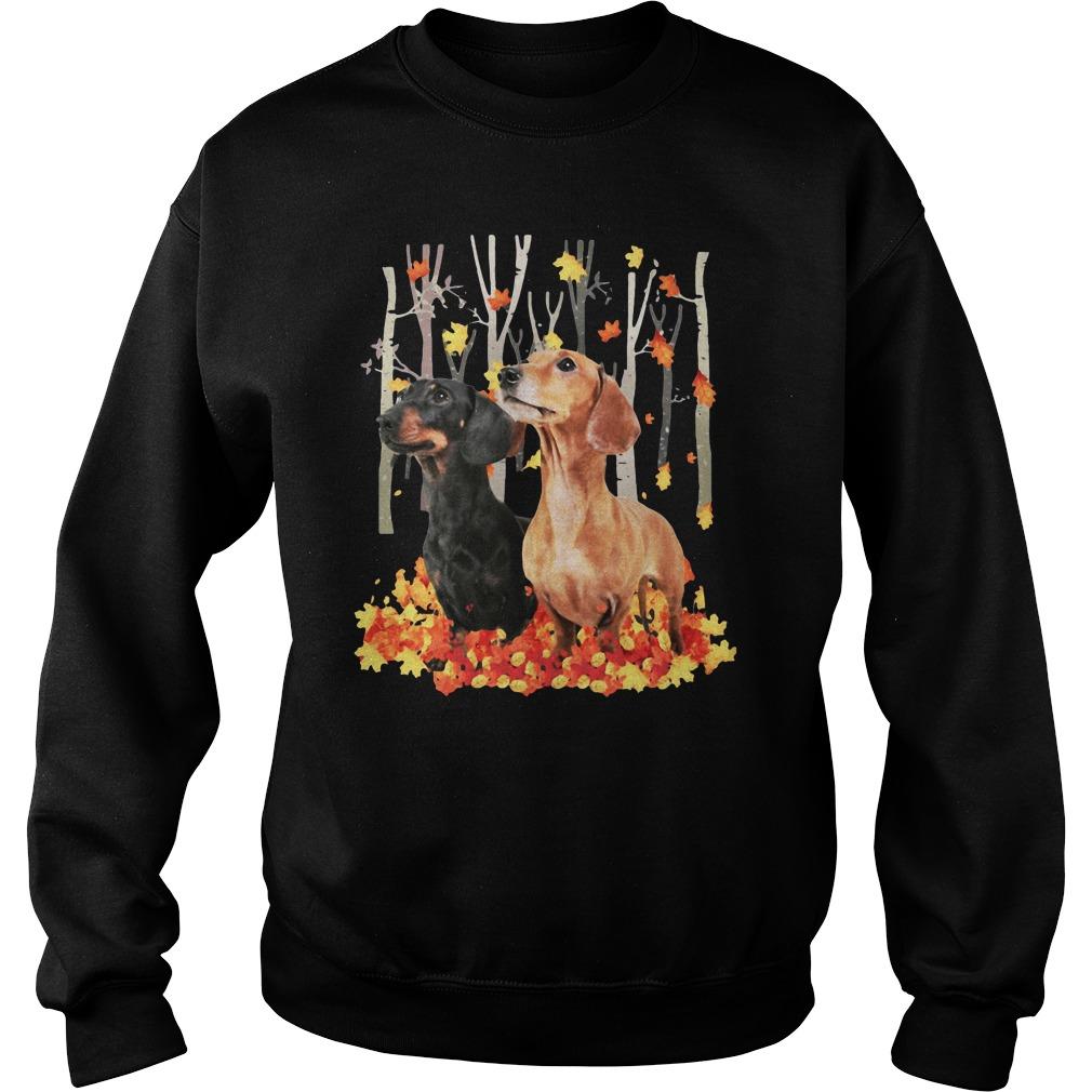 Dachshund Autumn Forest Shirt sweater