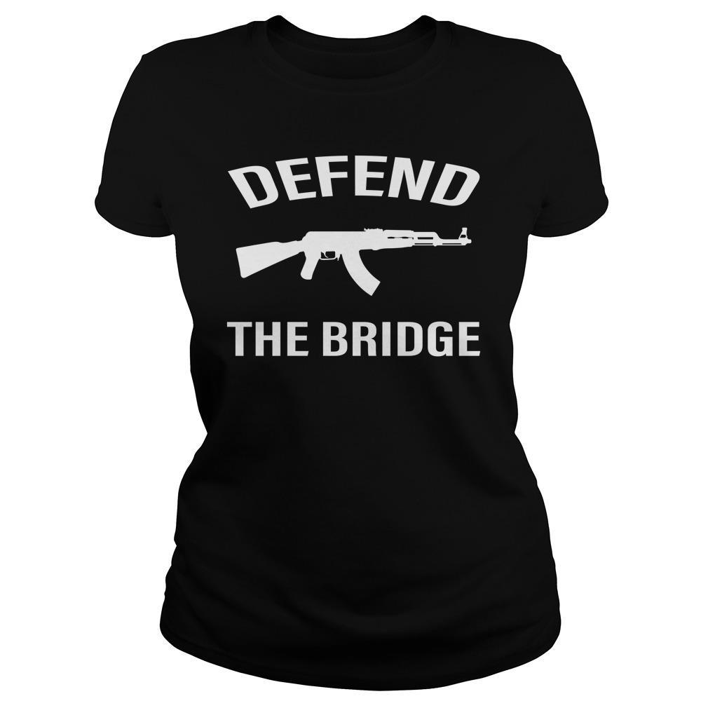 Defend The Bridge Black Shirt ladies tee