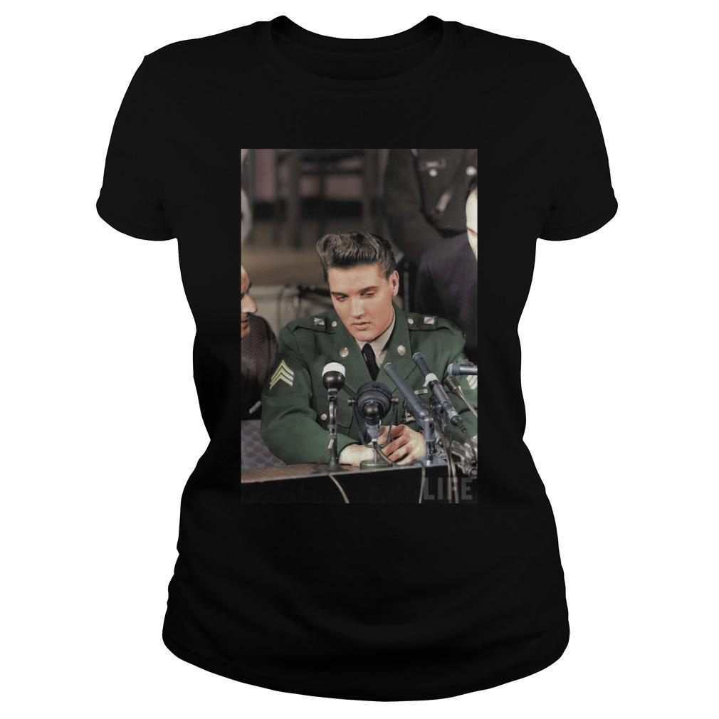 Elvis Presley Facts Black Shirt ladies tee