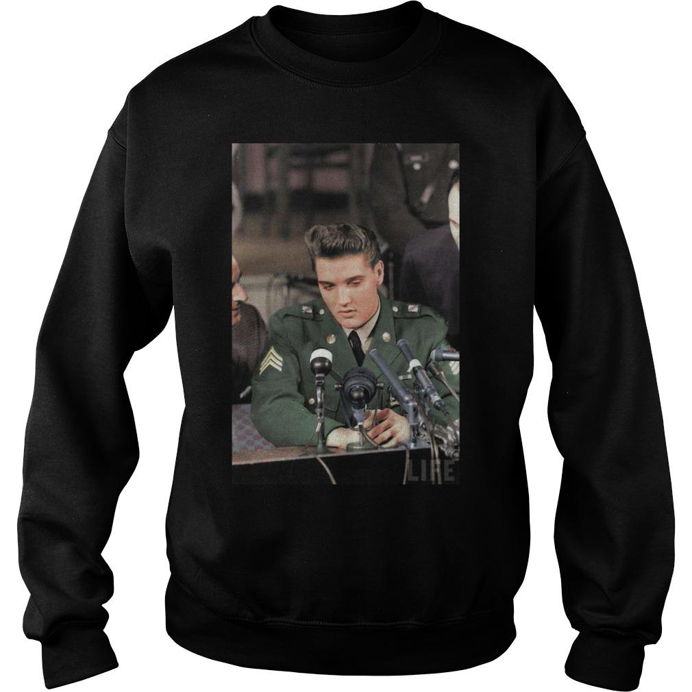 Elvis Presley Facts Black Shirt sweater