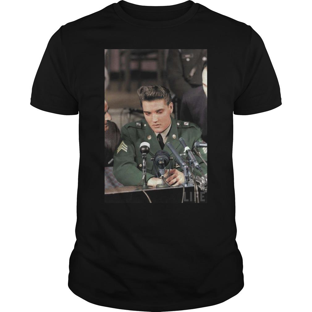 Elvis Presley Facts Black Shirt