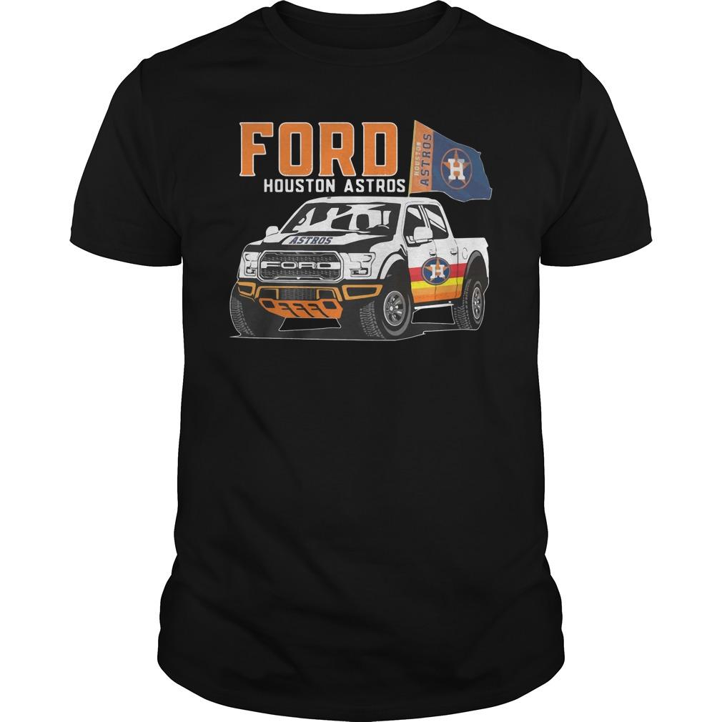 Ford Houston Astros Flag Baseball Team Fans Mustang Car Lovers Shirt