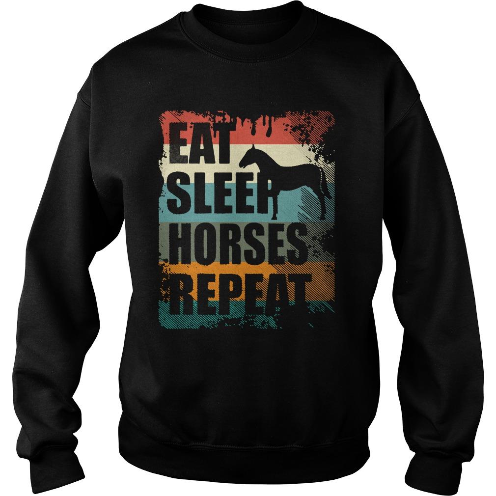 Horse Riding Club Eat Sleep Horses Repeat Shirt sweater