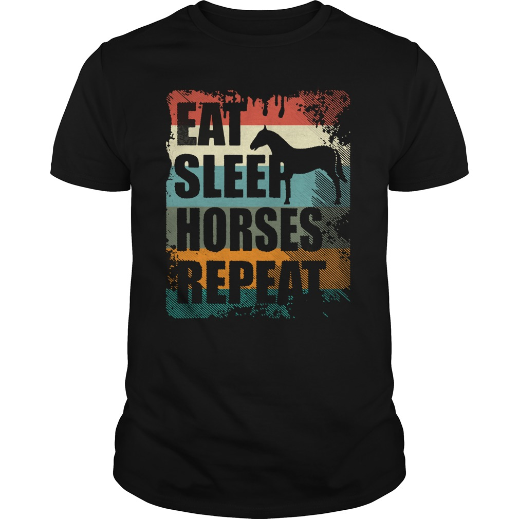 Horse Riding Club Eat Sleep Horses Repeat Shirt