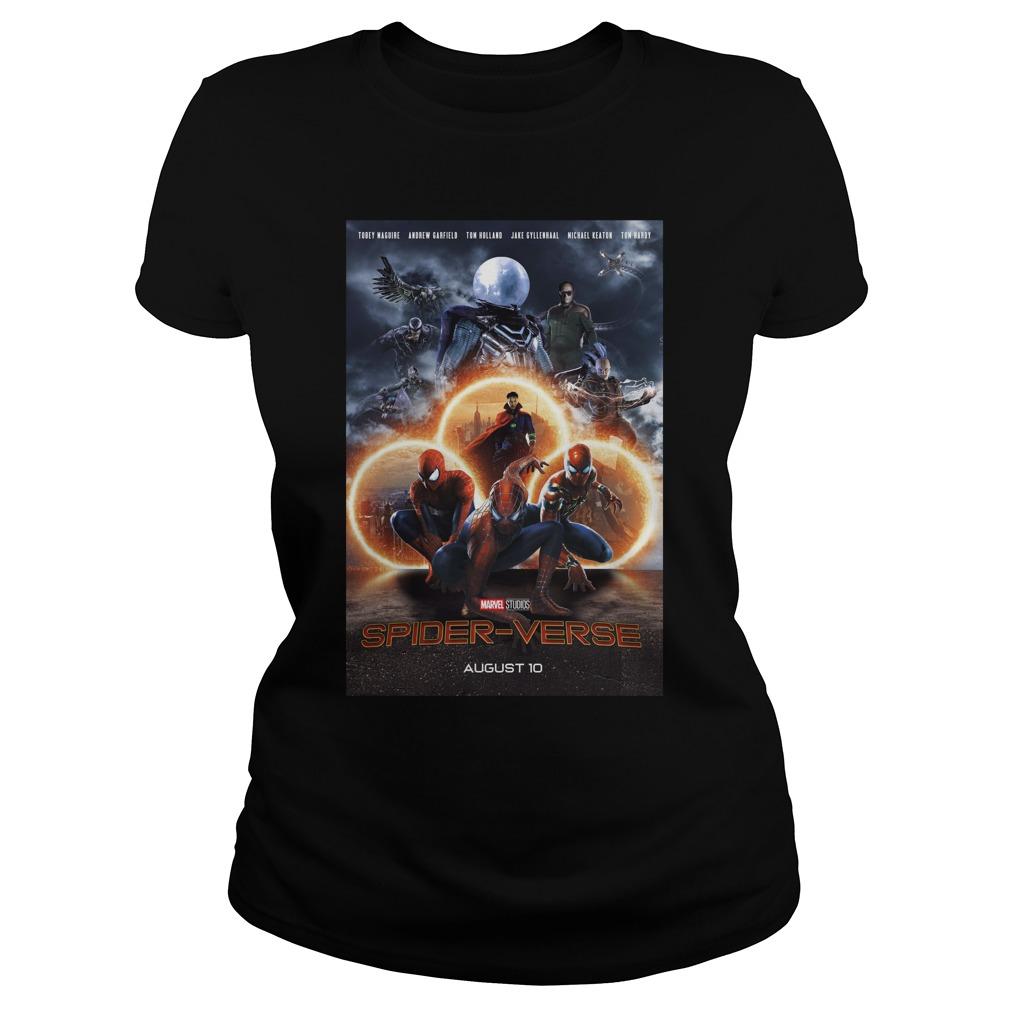 Marvel Studios Spider-Verse August 10 Shirt ladies tee