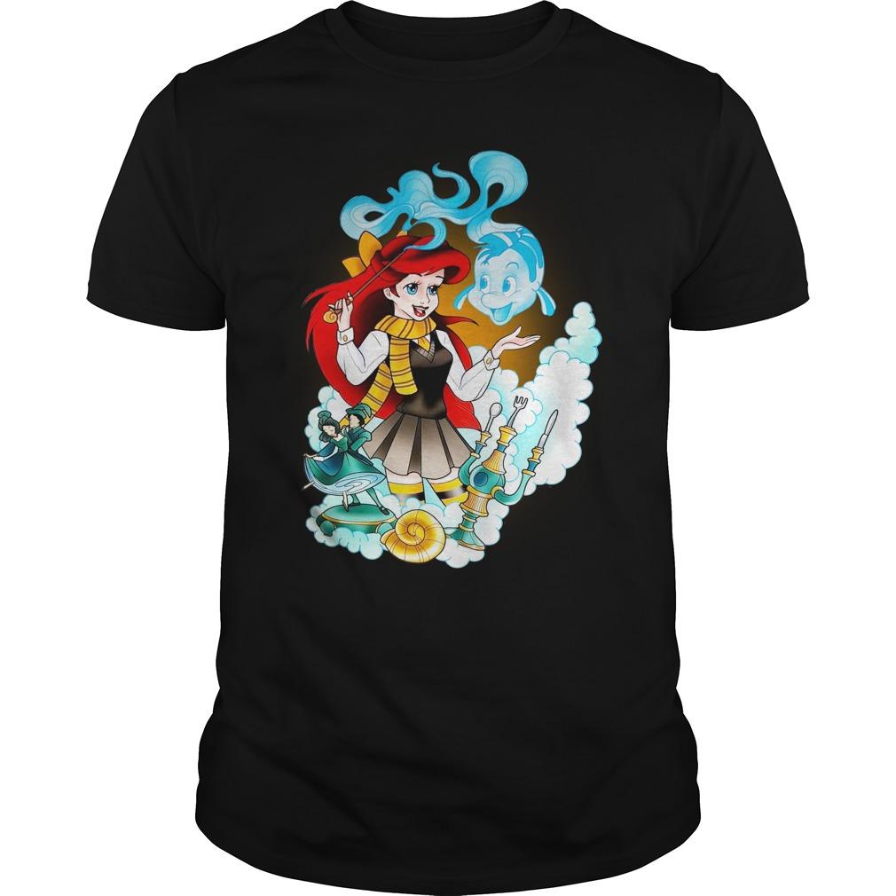 Mermaid Ariel Disney Black Shirt