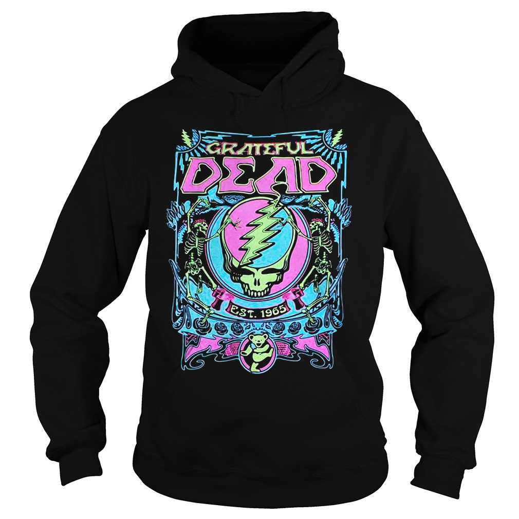 Neon Grateful Dead Black Shirt hoodie
