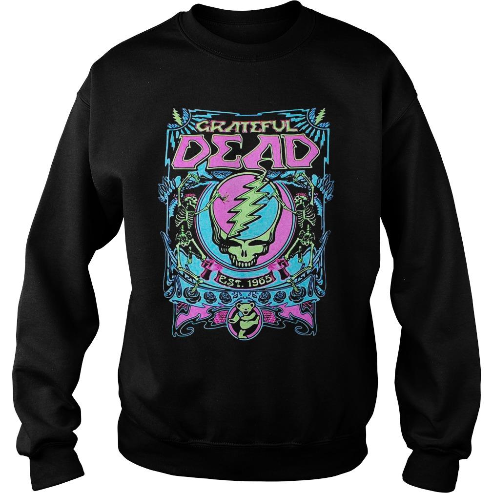 Neon Grateful Dead Black Shirt sweater