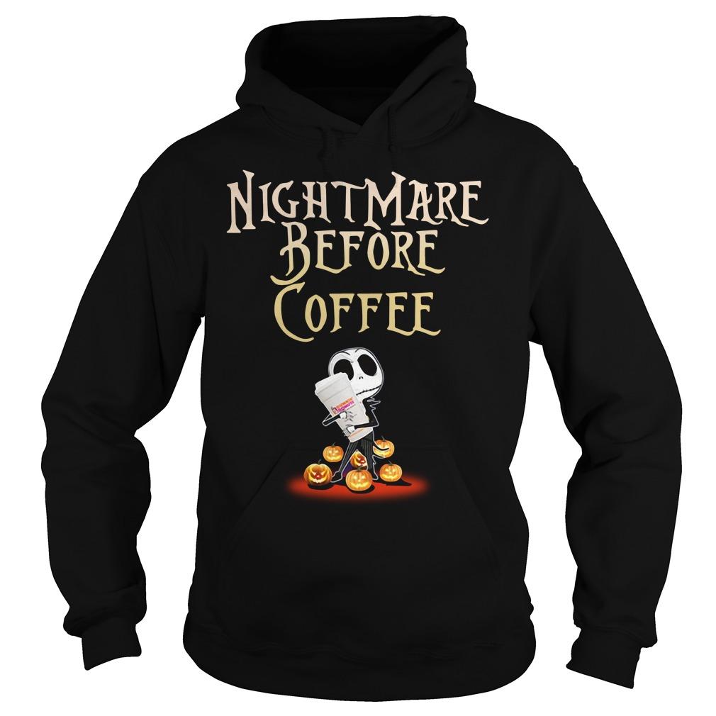 Nightmare Before Coffee Halloween Shirt hoodie