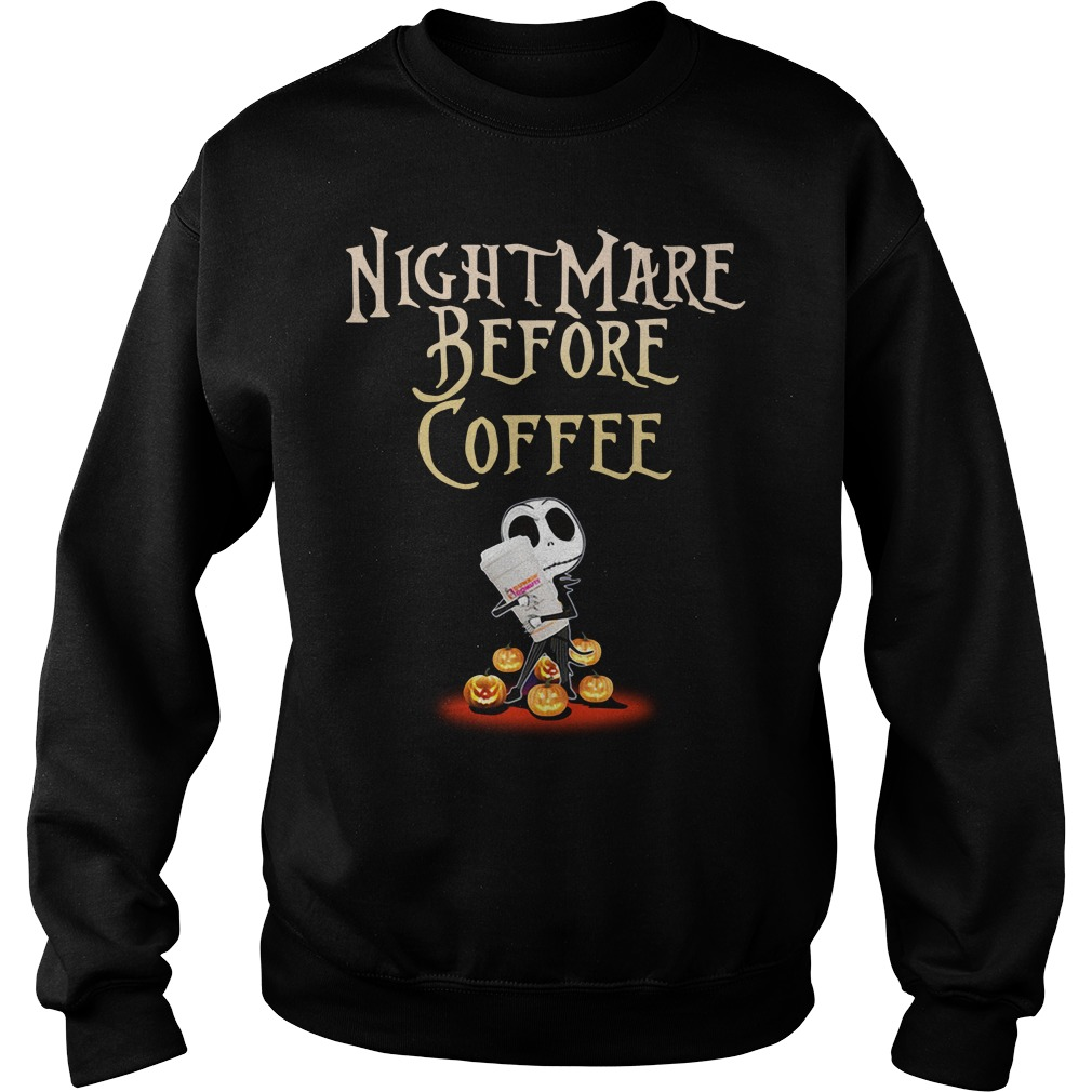 Nightmare Before Coffee Halloween Shirt sweater