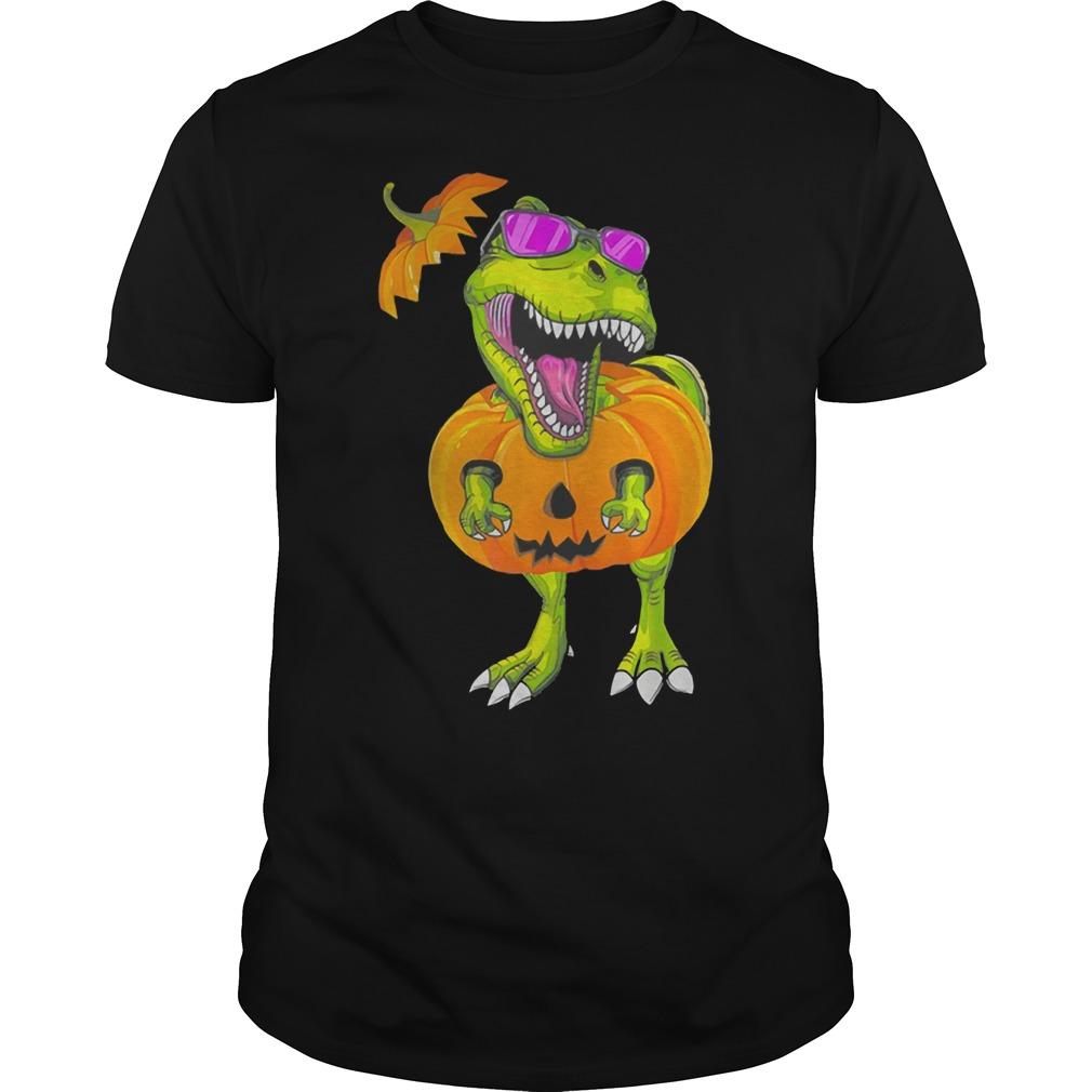 Original Halloween T-rex Dinosaur Pumpkin Funny Gift For Men Women Shirt