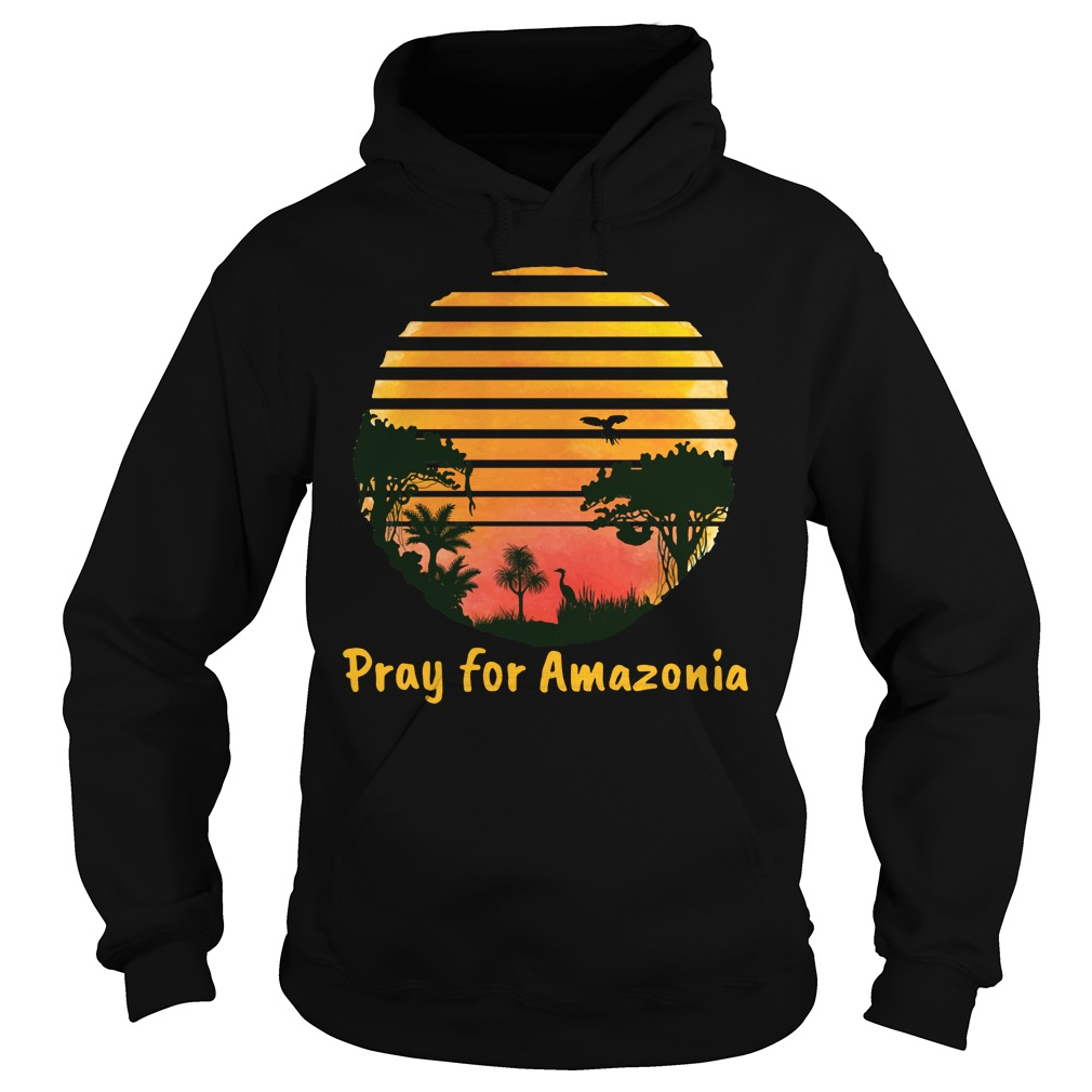 Pray For Amazonia Black Shirt hoodie