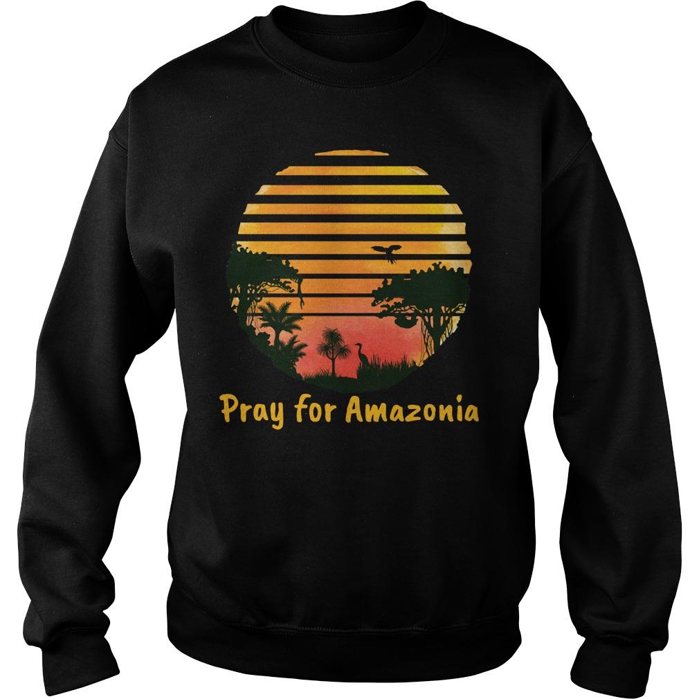 Pray For Amazonia Black Shirt sweater
