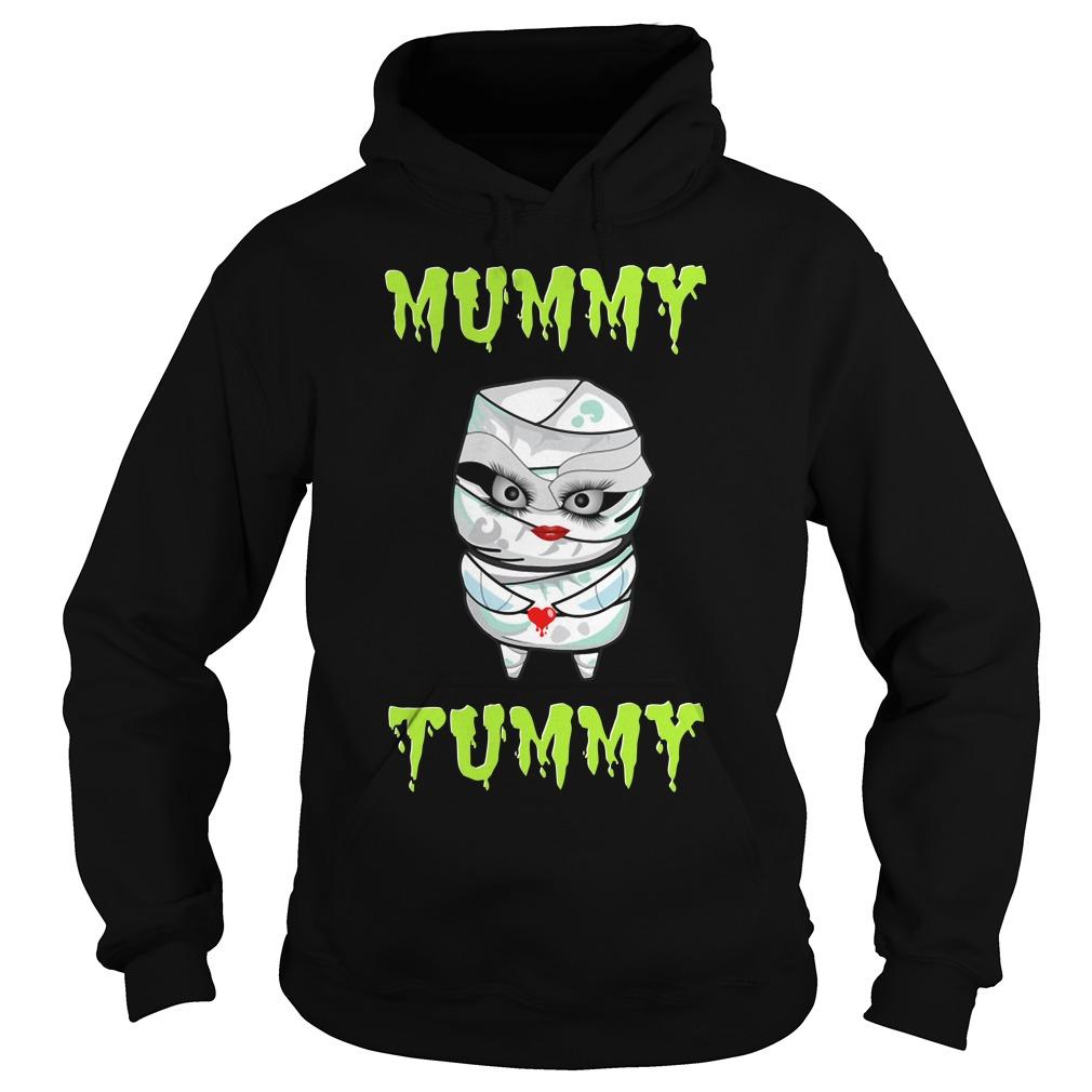 Pregnant Mummy Tummy Halloween Shirt hoodie