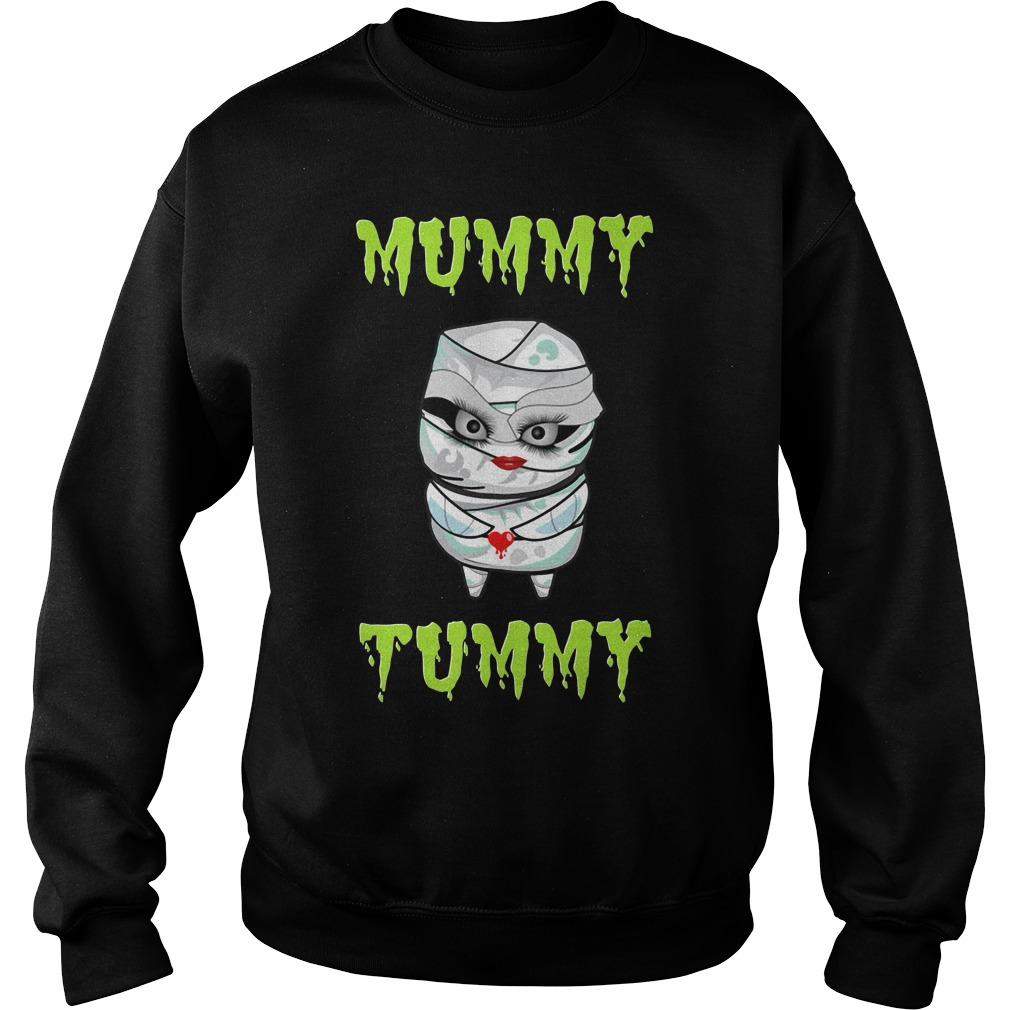 Pregnant Mummy Tummy Halloween Shirt sweater