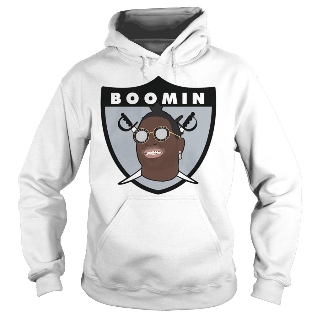 Raiders Boomin White Shirt hoodie
