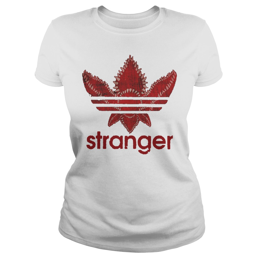 Stranger Things Adidas Shirt ladies tee