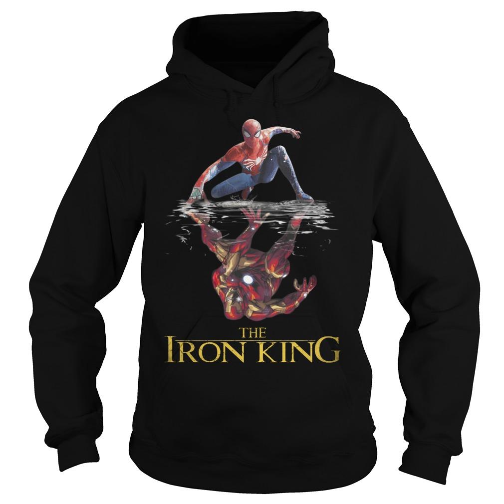 The Iron King Spider Man Reflection Iron Man Shirt hoodie