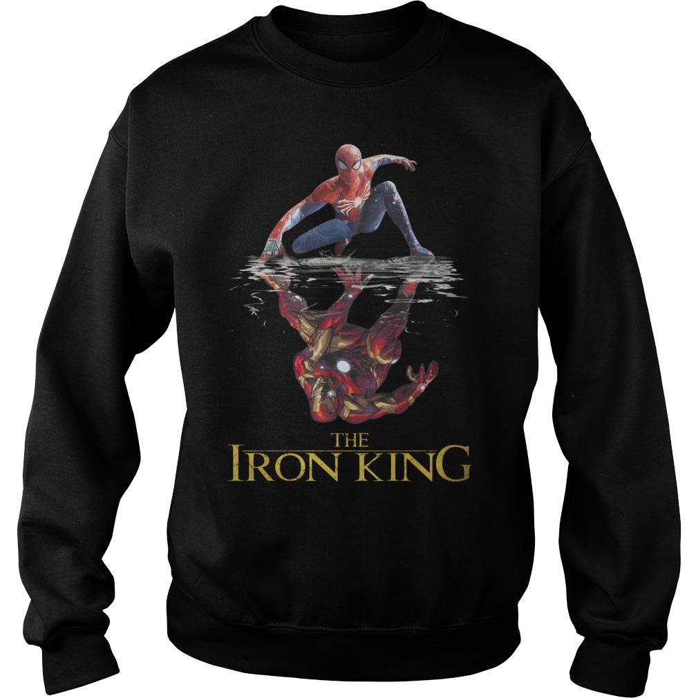 The Iron King Spider Man Reflection Iron Man Shirt sweater