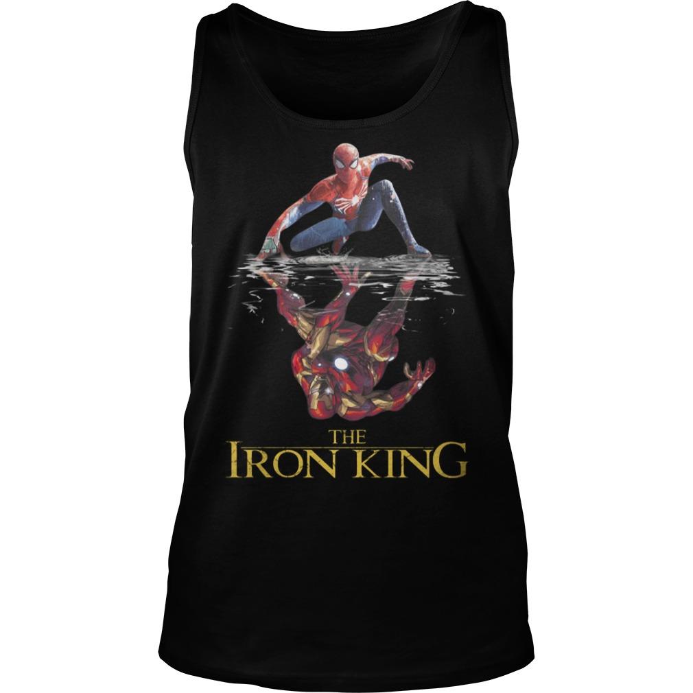The Iron King Spider Man Reflection Iron Man Shirt tank top