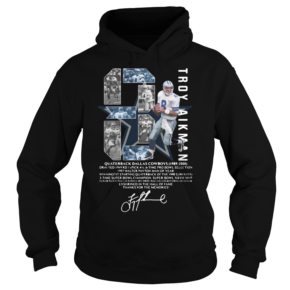 Troy Aikman Quarterback Dallas Cowboys Signature Shirt hoodie