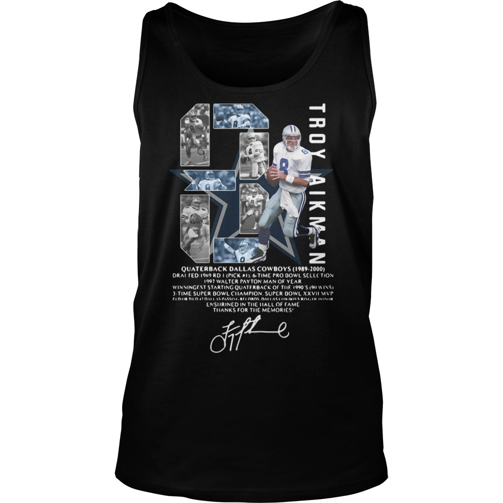 Troy Aikman Quarterback Dallas Cowboys Signature Shirt tank top