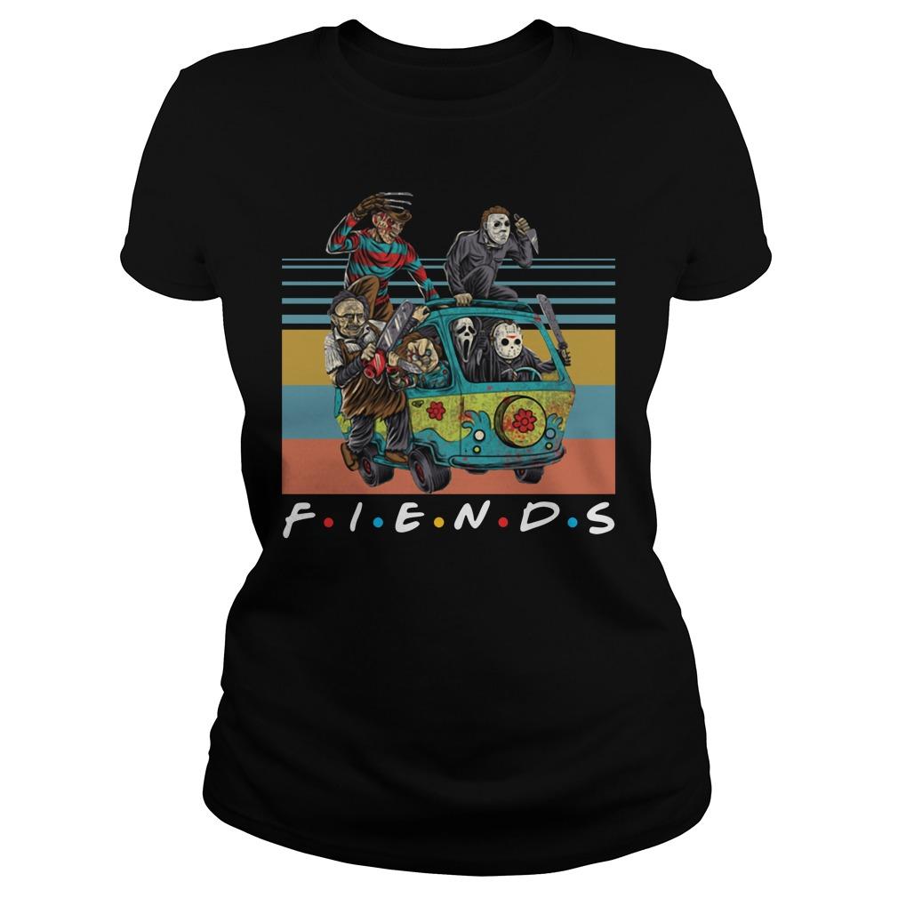 Vintage Friends Massacre Machine Horror Shirt ladies tee