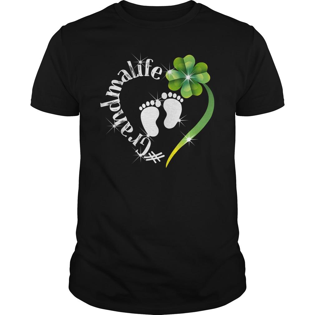Grandma Life Shamrock Heart St Patrick's Day Shirt