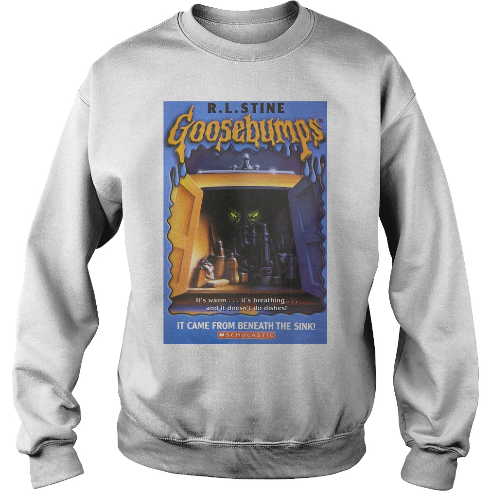 R L Stine Goosebumps It Came From Beneath The Sink Scholastic Shirt sweater
