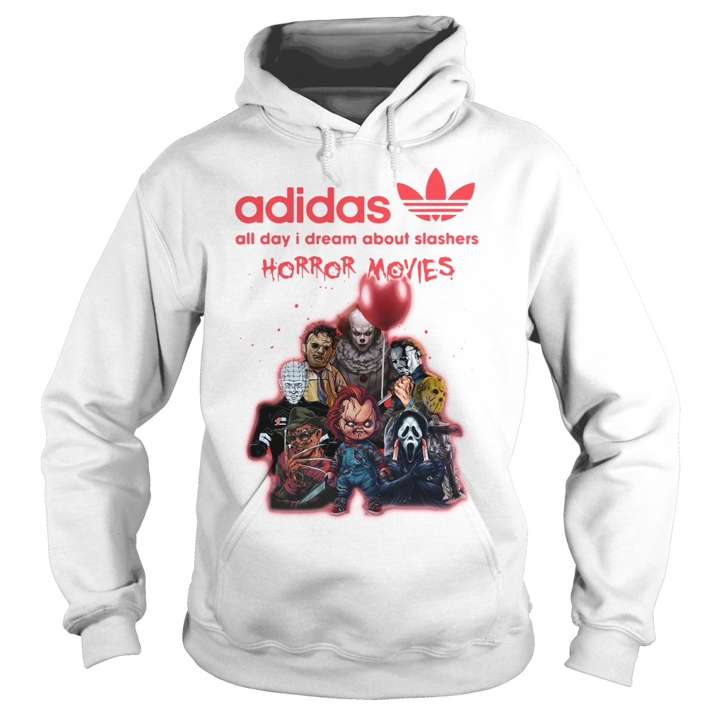 Adidas All Day I Dream About Slashers Horror Movie Hoodie
