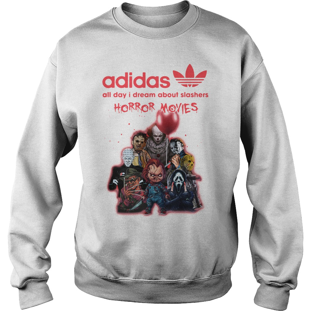 Adidas All Day I Dream About Slashers Horror Movie Sweater