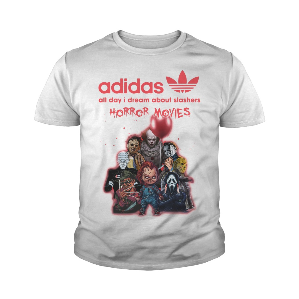 Adidas All Day I Dream About Slashers Horror Movie Youth Shirt