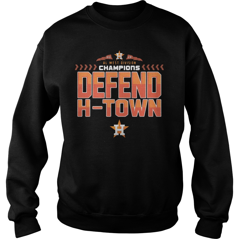 Astros Al West Champions Defend H Town Sweater