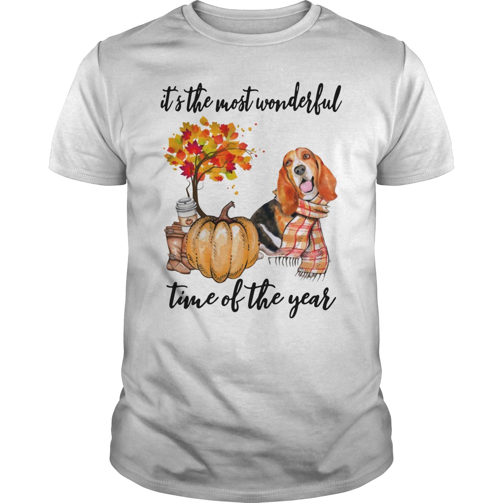 Basset Hound It's The Most Wonderful Time Of The Year Guys Shirt