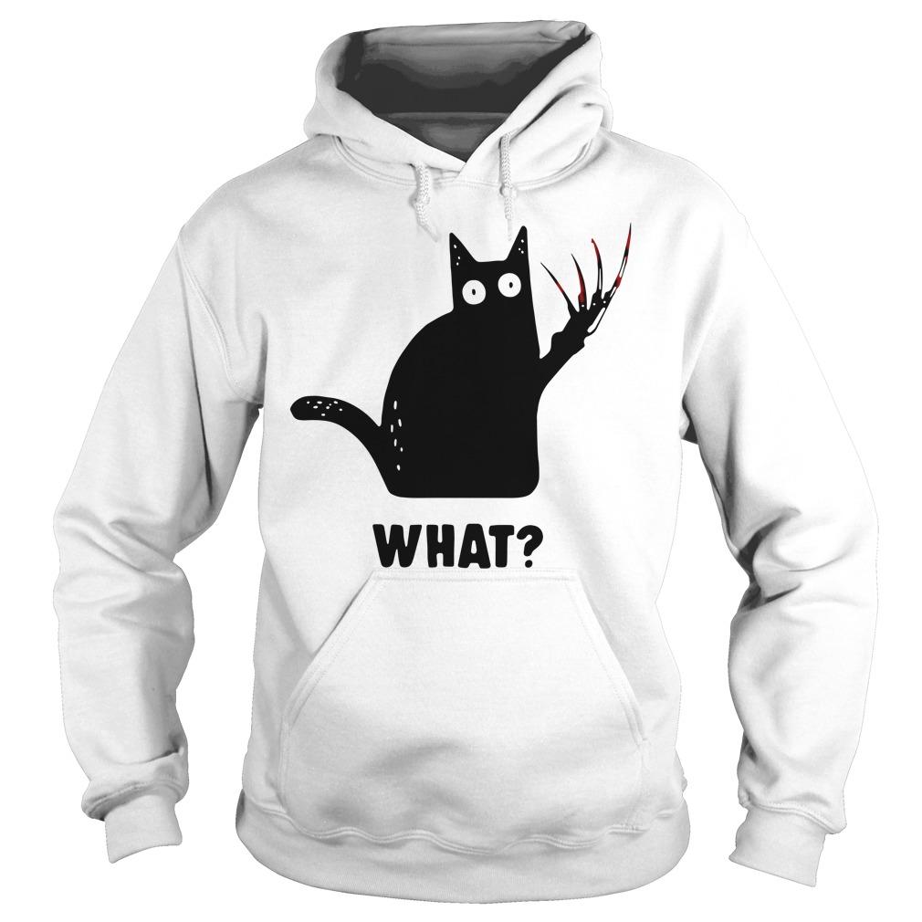Black Cat Freddy Krueger What Hoodie