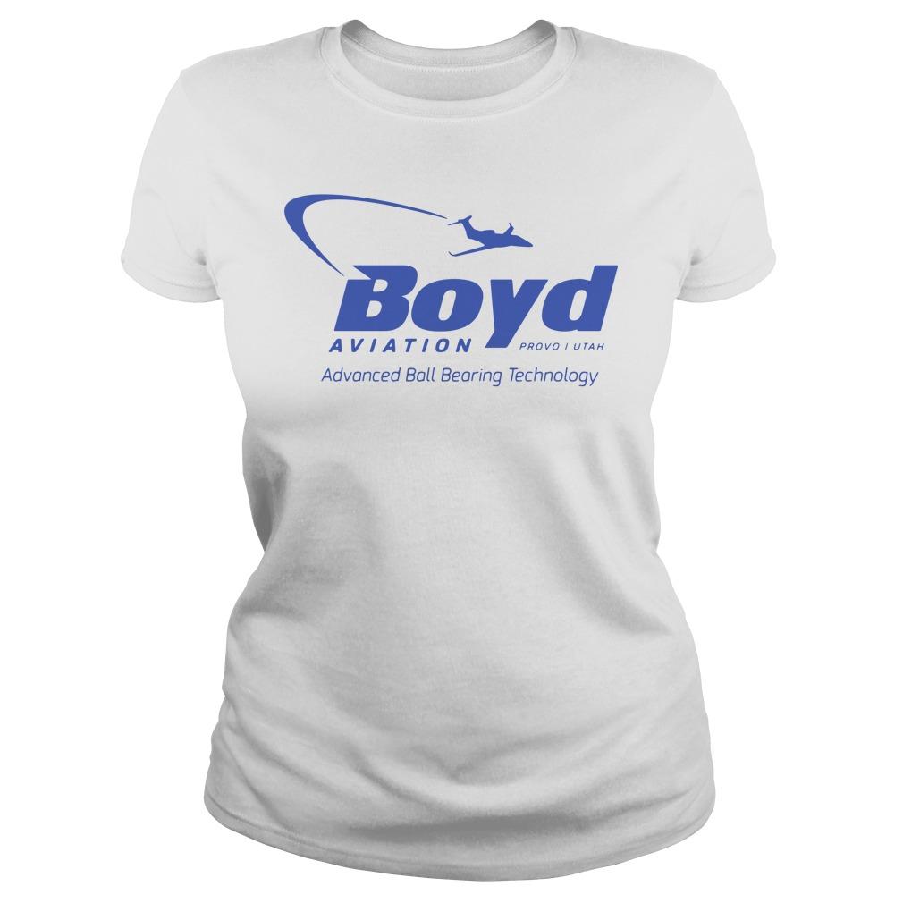 Boyd Aviation Provo In Utah Advanced Ball Bearing Technology Ladies Shirt