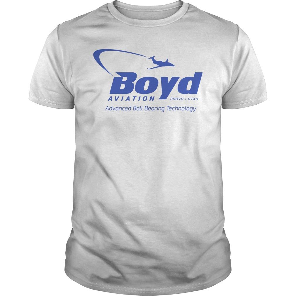 Boyd Aviation Provo In Utah Advanced Ball Bearing Technology Guys Shirt
