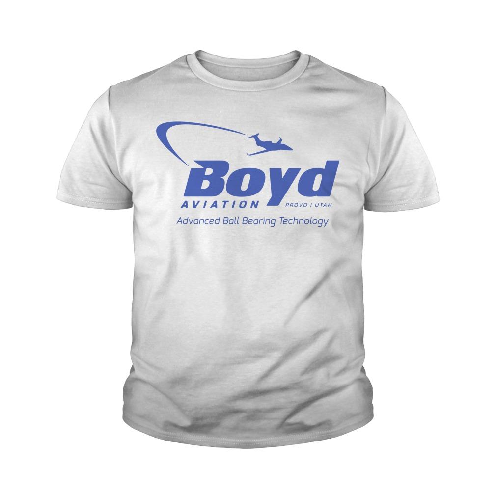 Boyd Aviation Provo In Utah Advanced Ball Bearing Technology Youth Shirt