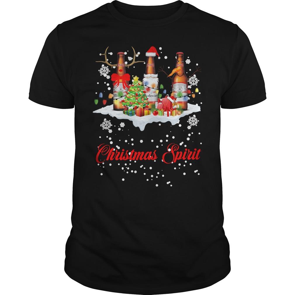 Christmas Spirit Budweiser Guys Shirt