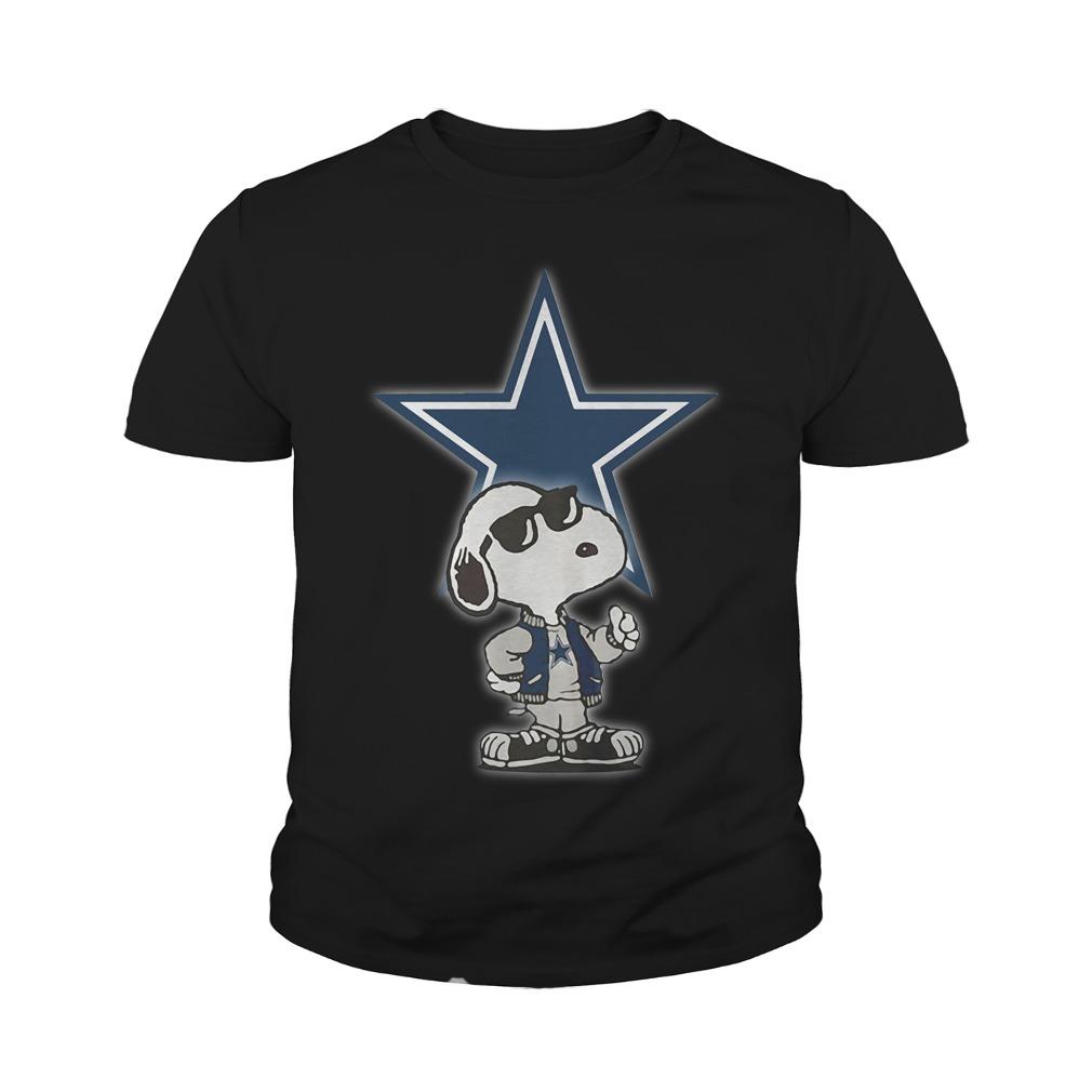 Dallas Cowboys Snoopy Football Sports Youth Shirt