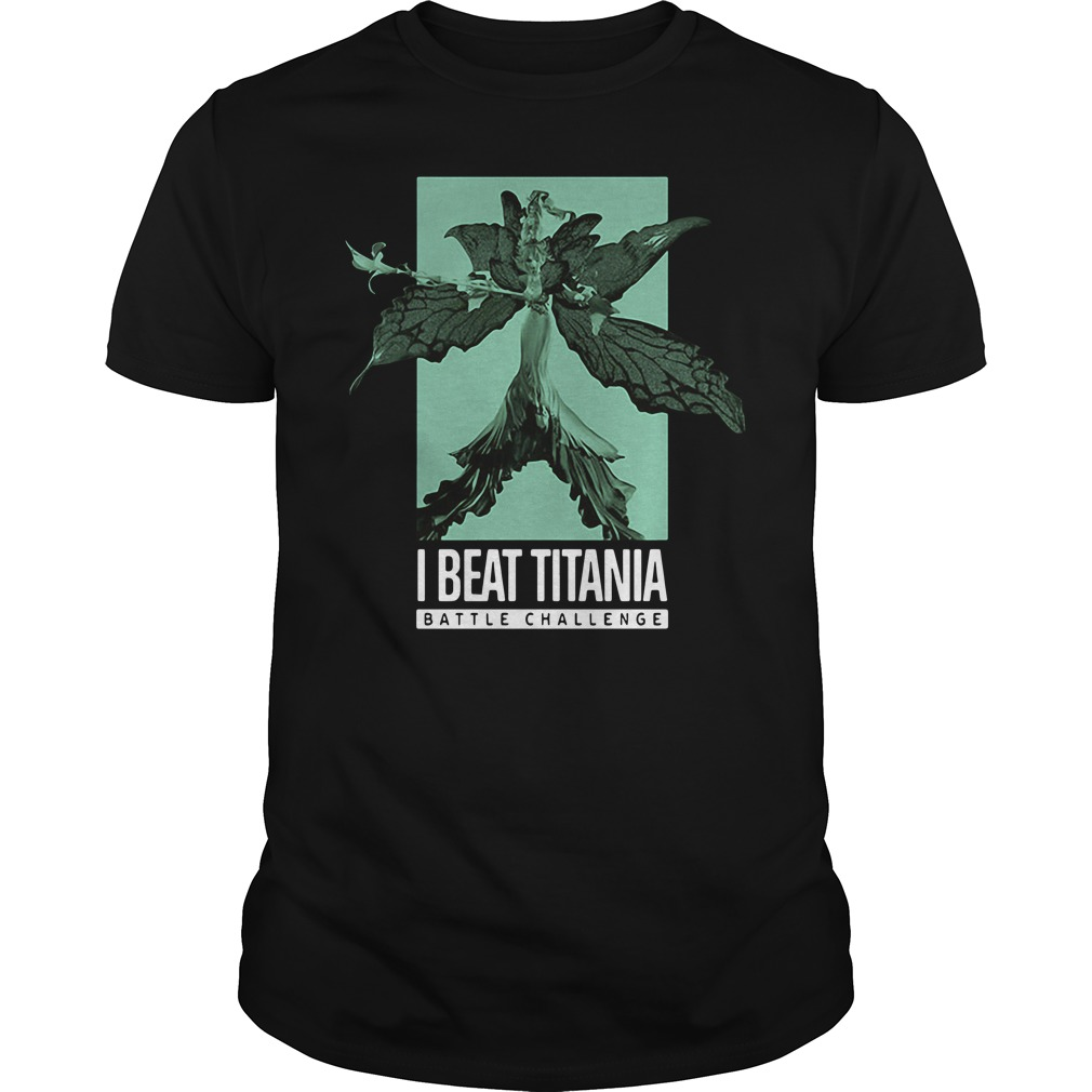 Final Fantasy 14 I Beat Titania Battle Challenge Guys Shirt