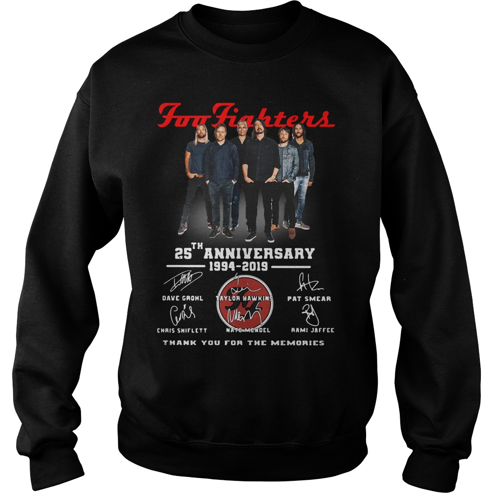 Foo Fighters 25th Anniversary 1994 2019 Thank You For The Memories Sweater