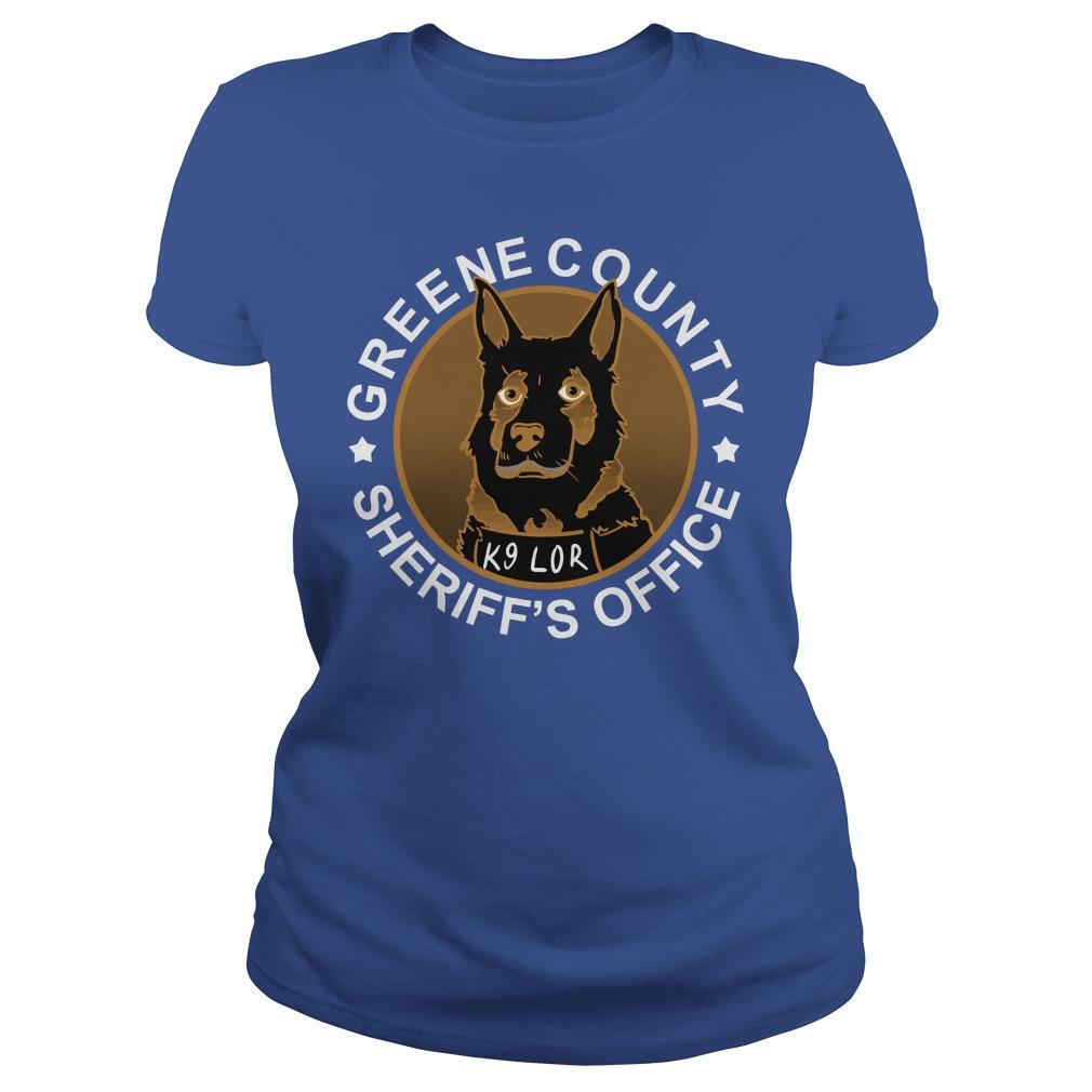 Greene County Sheriff's Office K9 Lor Ladies Shirt