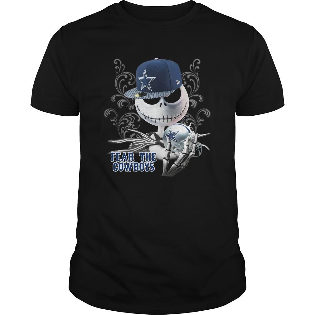 Halloween Jack Skellington Fear The Cowboys Guys Shirt