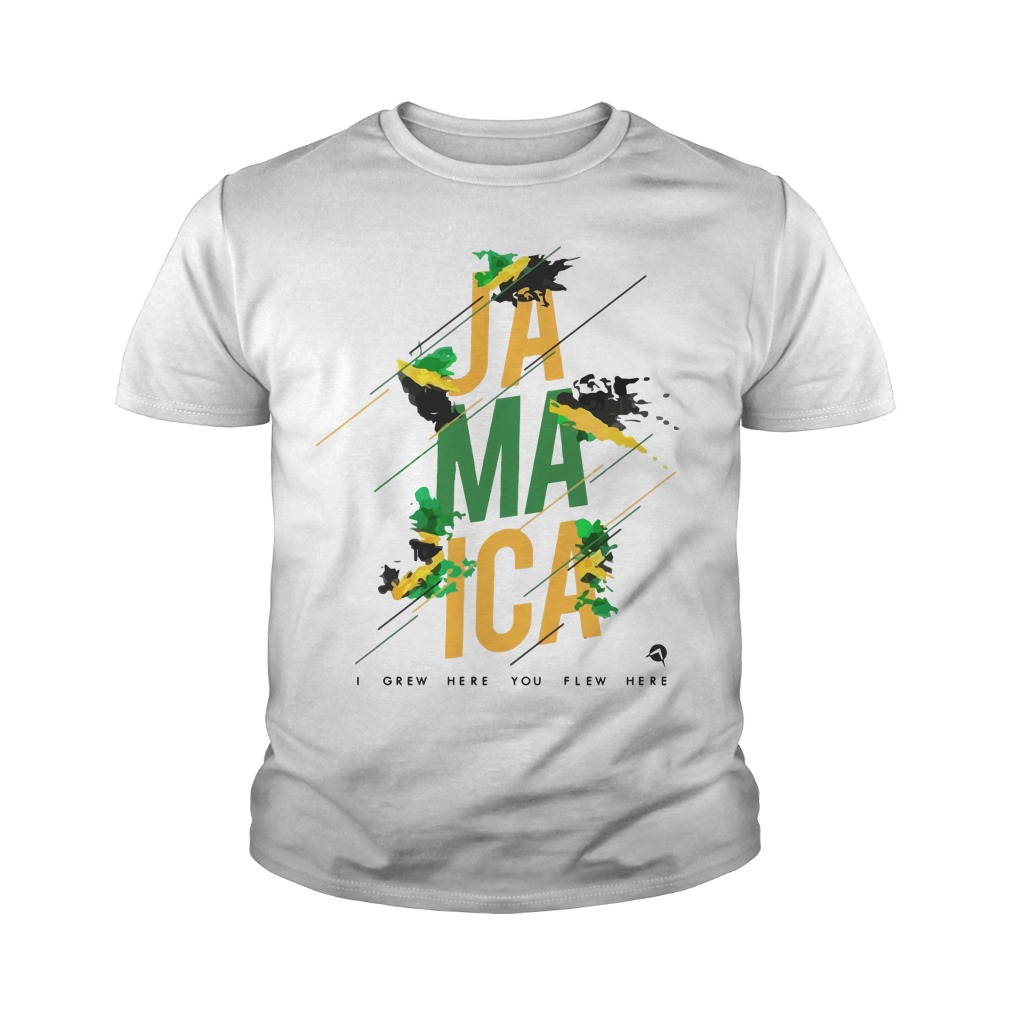 Jamaica I Grew You Flew Here Youth Shirt