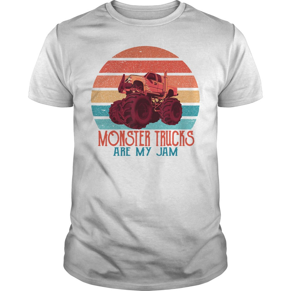 Monster Trucks Are My Jam Guys Shirt