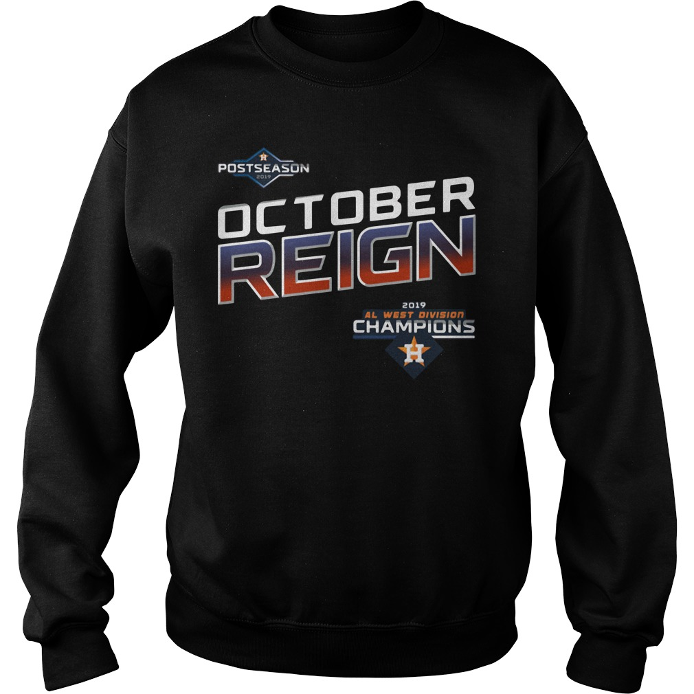 October Reign Astros 2019 Al West Division Champions Sweater