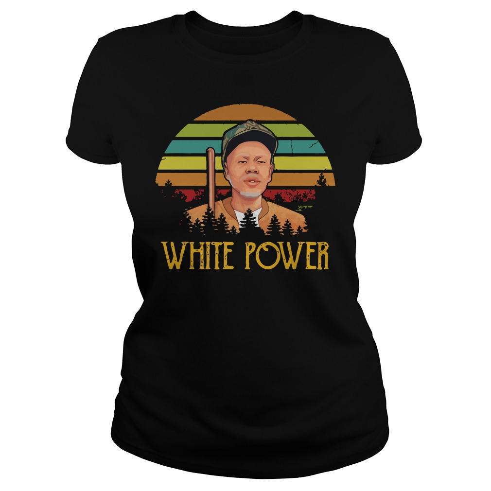 Official White Power Sunset Ladies Shirt