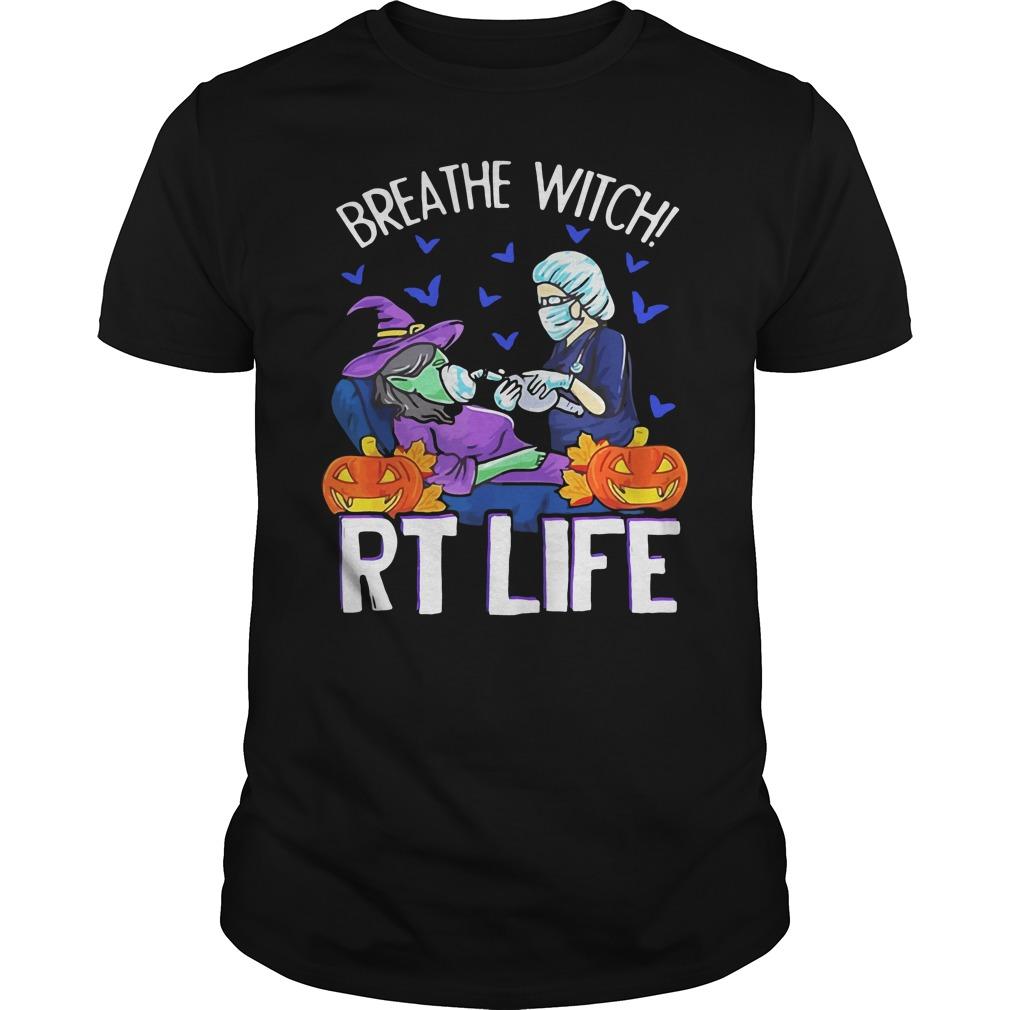 Victim Breathe Witch Rt Life Halloween Guys Shirt